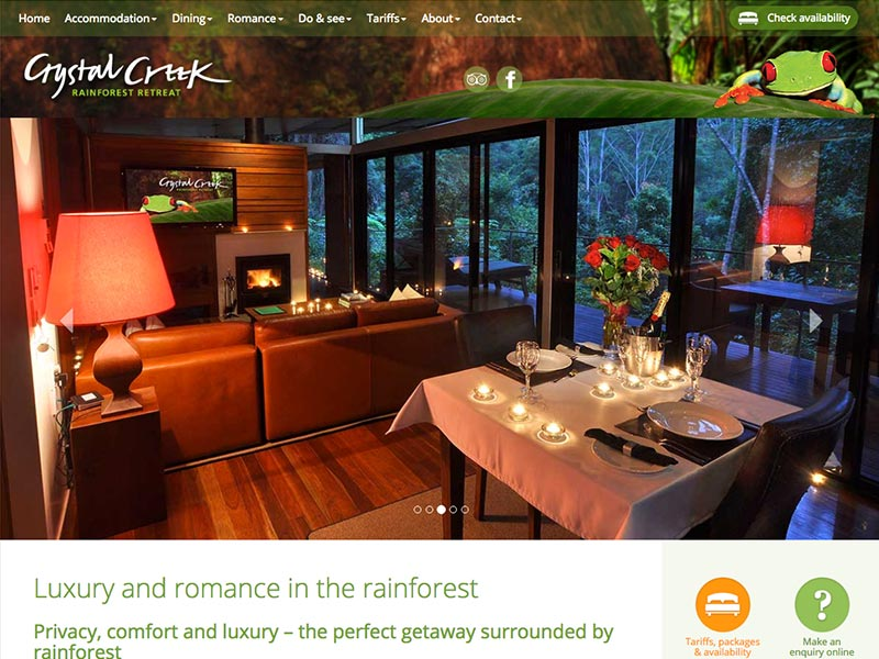 Go to the Crystal Creek Rainforest Retreat website